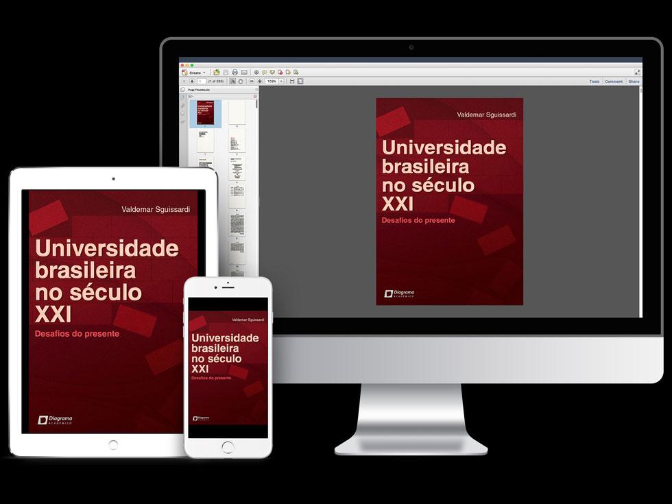 Ebook representado em vários dispositivos eletrônicos - imagem ilustrativa